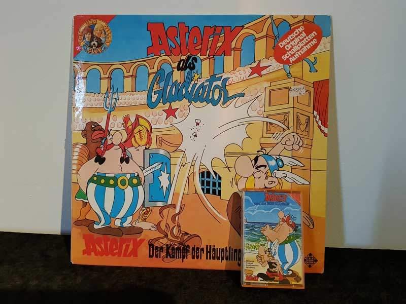 Asterix - als Gladiator / Der Kampf der Häuptlinge / und die Normannen / und der Kupferkessel Telefunken Hörspiel Foto